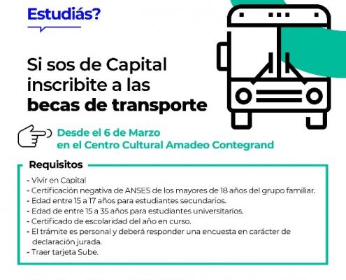 becas transporte capital